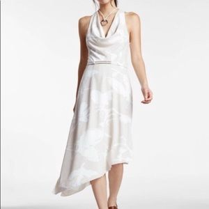 NWT Halston Heritage Oyster OrchidPrint Chic Dress